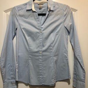 H&M Light Blue Button Down Top Size 6